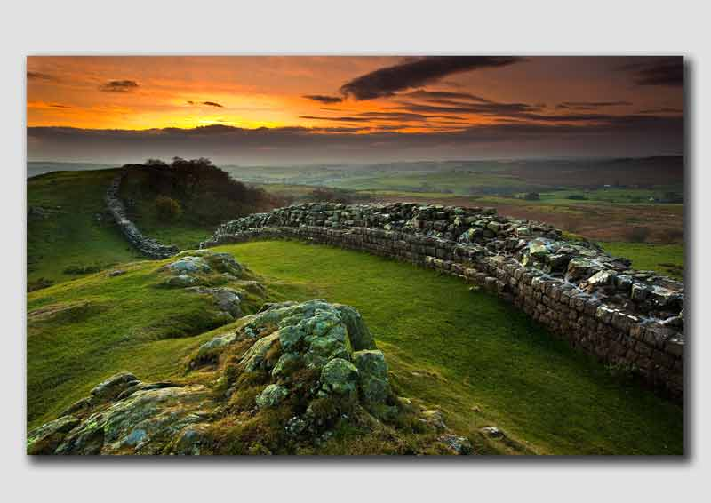 Last Light near Hadrians Wall - NS3190