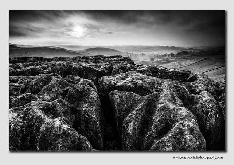 Malham Cove in Mono - Yorkshire - YSW5D32462