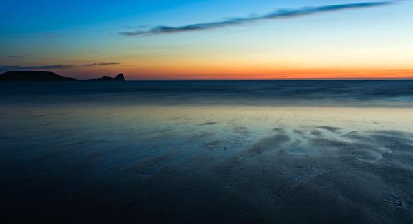 Rhossili Bay 'Dusk Glow' - SWS032
