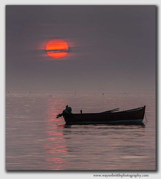 Robin Hoods Bay Boat at Dawn - YS0020