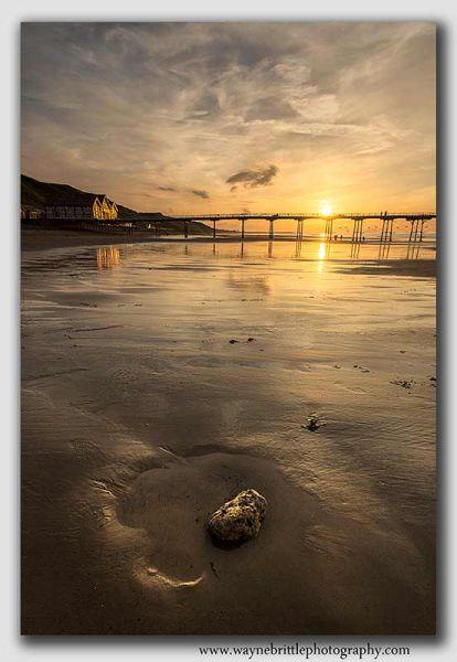 Saltburn Pier Sunset Portrait - W5D31220