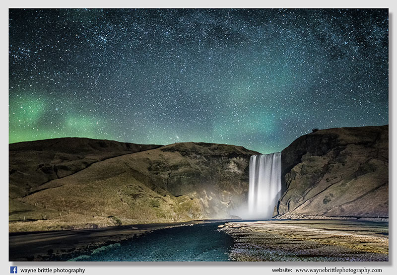 Skogafoss - The Aurora and a sky full of stars