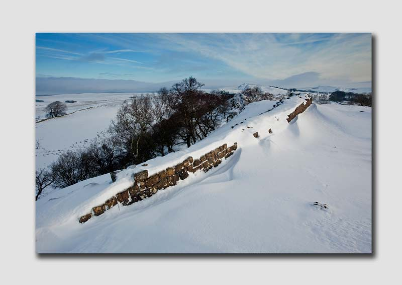 Snow over Hadrians Wall - Northumberland NS8180