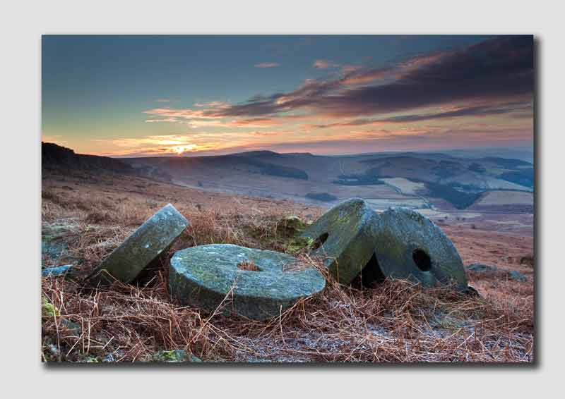 Stanage Millstones at Sunrise - PS8291