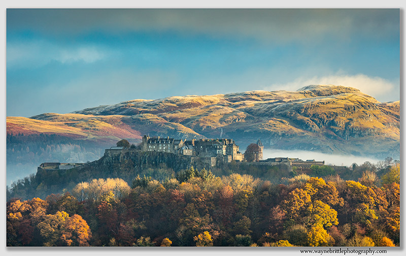 Stirling Castle and late Autumn lighr
