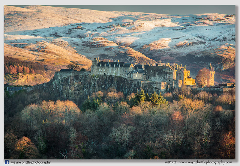 Stirling Castle and Winter light 2