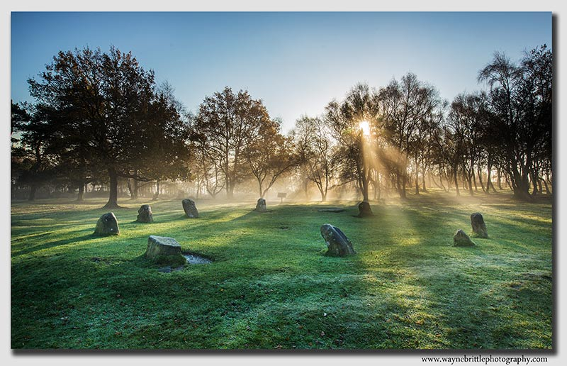 Sunbeams and Stone Circles - Peak District - FA8X8029