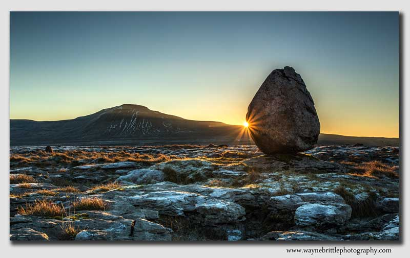 'Erratic Boulder' Sunrise  - Yorkshire - W5D37716