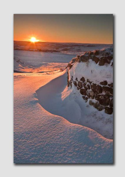 Sunrise and Snow - Hadrians Wall - Northumberland NS8052