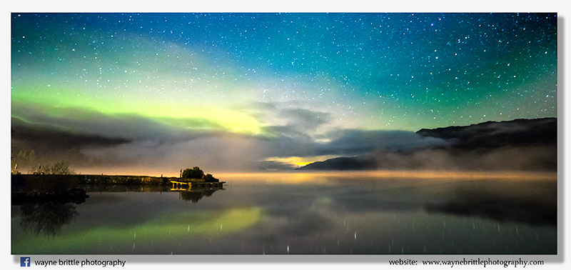 Midnight Aurora over Loch Ness 2