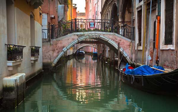 Venice Canal and Gondala - V5985