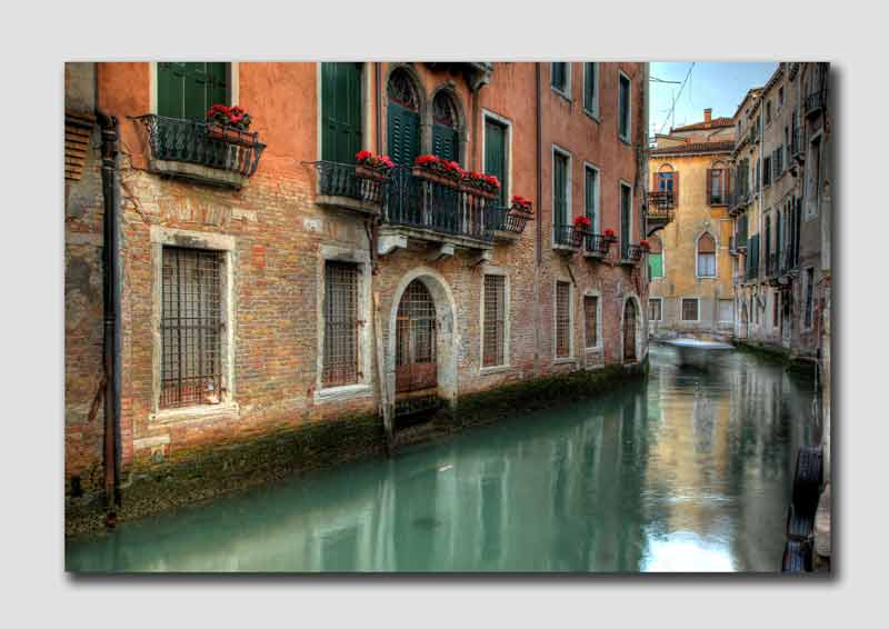 Venice Canal in HDR - V5974
