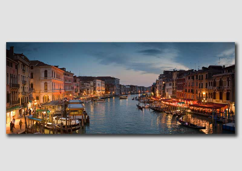 Venice 'Grand Canal' at Dusk - Panorama
