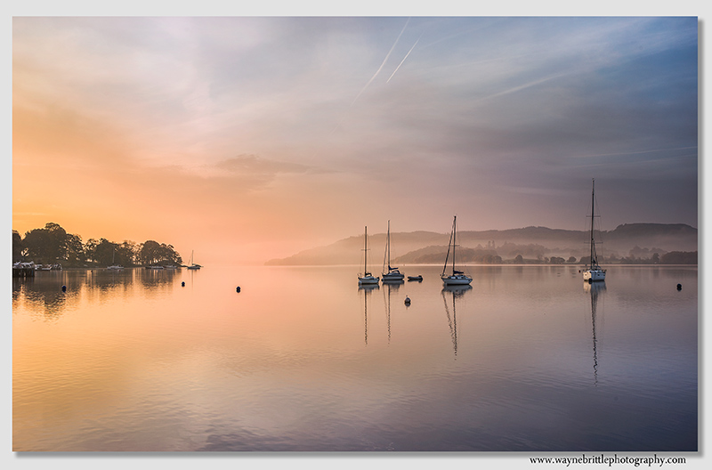 Waterhead Boats, just before sunrise