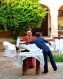 Karauli table prep