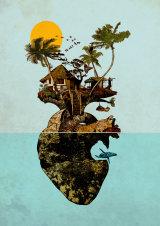 Heart rock island