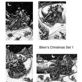 Biker's Christmas cards Set 1