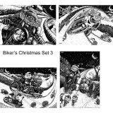 Biker's Christmas cards Set 3