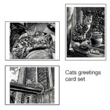 Cats greetings card set
