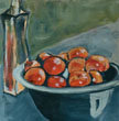 Still Life with Nectarines by Barbara Chivers