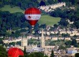 Hot Air Balloon Over Bath