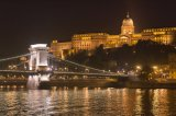 Castle Hill and Chain Bridge by night - Budapest, Hungary