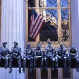 9/11 Sculpture - In Memory of the Hard Hats - Broadway - New York 2002