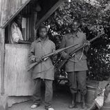 Guards at tea plantation - Mityana - Uganda 1996