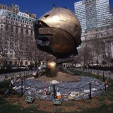 The Sphere rescued from Ground Zero to Battery Park - New York 2002