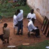 Open air barbershop - Kampala - Uganda 1996
