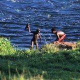 Washing in the Nile - Bujagali Falls - Uganda 1996