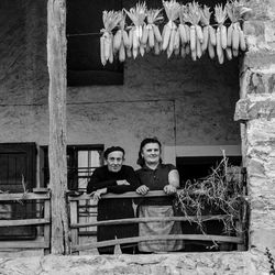 Farmers on their porch, Emilia, Italy 1991