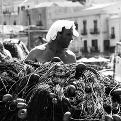 Fisherman, Eolie Islands, Sicily, Italy 1995