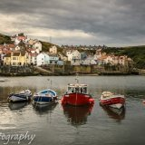 Staithes Harbour at  dusk