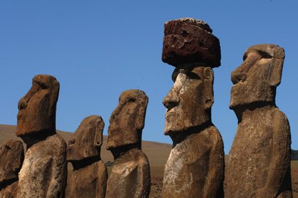 Easter Island statue with top hat