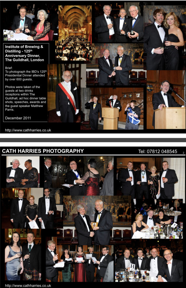Institute of Brewing & Distilling 125th Anniversary Dinner-The Guildhall