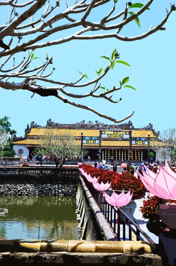 Temple, Hue, Vietnam