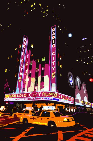 Radio City Music Hall at Night