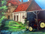 Hilary's House with tractor