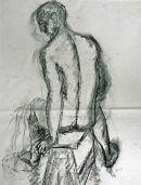 angled seated figure