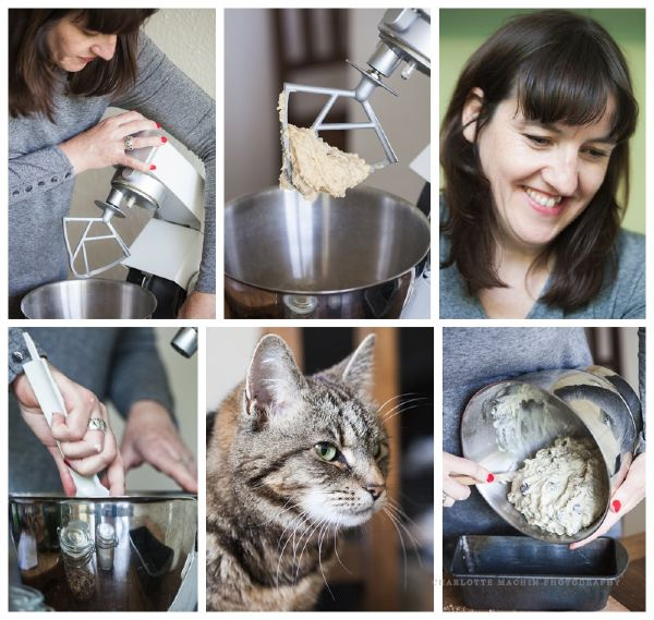 mixing ingredients with cat