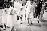 bridesmaids at church