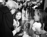flowergirls and pageboys in church