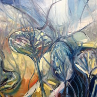 Through the Trees, Oil on Canvas 102 x 126 cm