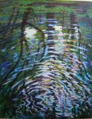 Reflection in canal. Acrylic on canvas