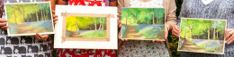 Bluebell Woods – the results of a pastel workshop 2014