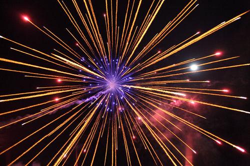 firework blue centre