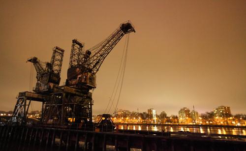 battersea power station, old cranes