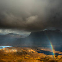 Assynt storm and rainbow