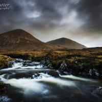Waterfall and Beinn Dearg Mhor